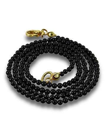 Onyx zwart kralenketting